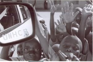 kids and unhcr car