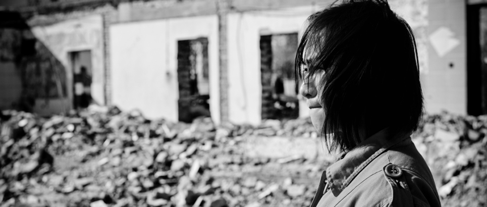 iStock - woman post-earthquake